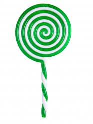 Grøn plastikslikkepind 22,5 cm