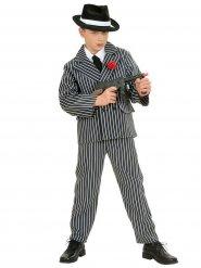 Kostume gangster sort og hvid til drenge