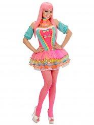 Kostume klovn til kvinder pastel