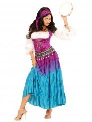 Kostume spåkone flerfarvet til kvinder