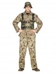 Kostume soldat khaki til mænd