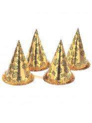 Hat spidshat guld nytår