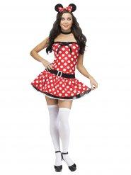Kostume sexet mus i hvid sort og rød