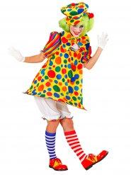 Kostume cirkus klovn multifarvet