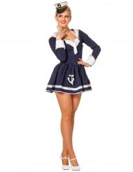 Kostume sexet marine i hvid og blå