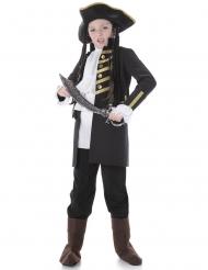 Kostume til børn adelig pirat sort