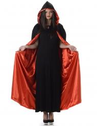 Kappe med hætte sort og rød Halloween til voksne