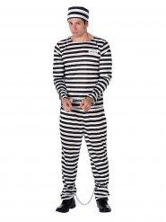 Kostume fange stribet sort/hvid til mænd