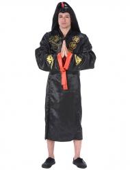 Kostume samurai sort og guld til voksne