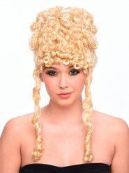 Paryk blond med krøller