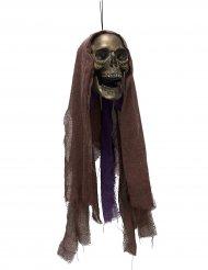 Dekoration Dødens hoved med lys ophængt Halloween