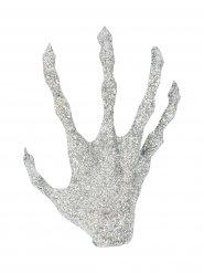 Dekoration sølvhånd med palietter Halloween