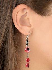 Øreringe med øjne og dødningehoveder røde til Halloween!