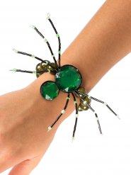 Armbånd gotisk edderkop i grøn Halloween