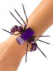 Armbånd lilla edderkop 13 cm