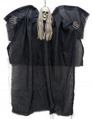 Lysende sort dødsengel til ophæng 110 cm