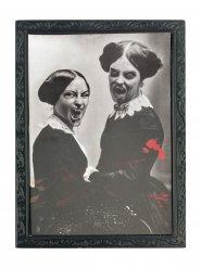 Halloween ramme med sort/hvid billede