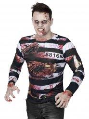 T-shirt zombie fange til Halloween