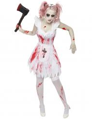 Kostume zombie brudepige Halloween til kvinder