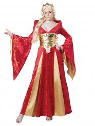 Kostume middelalderdronning til kvinder