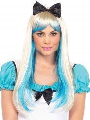 Paryk deluxe prinsesse blond og blå