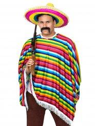 Mexikaner kostume forskelligfarvet voksen