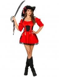 Miss Morgan - Sexet rødt piratkostume til kvinder
