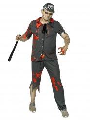 Kostume zombie politimand grå til mænd Halloween