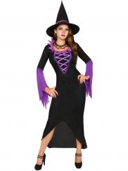 Kostume magisk heks lilla og sort