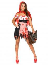 Kostume zombie lille rødhætte til kvinder