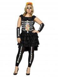 Kostume skelet Dia de los Muertos til kvinder Halloween