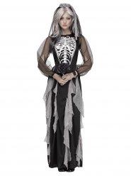 Kostume skelet brud til kvinder Halloween