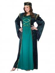 Grønt middelalderkostume til kvinder