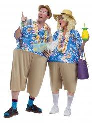 Tyk Hawaii turist kostume - voksen