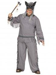 Kostume ulvehøvding i grå