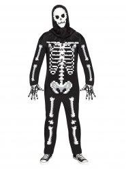 Pixel skeletkostume til voksne