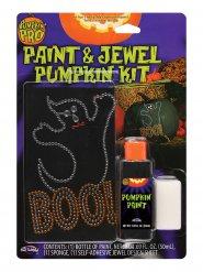 Sort græskar dekorationskit til Halloween