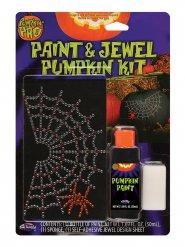 Græskar dekoration spindelvæv af ædelsten!