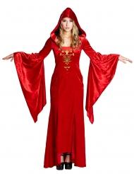 Kostume middelalder kjole rød