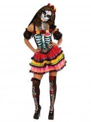 Kostume Dia de los Muertos multifarvet Halloween