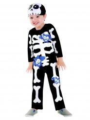 Kostume skelet med flagermus til børn Halloween