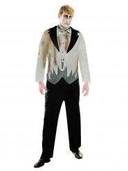 kostume skræmmende zombie brudgom mand