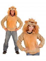 Jakke med hætte løve til voksne