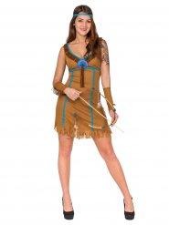 Kostume indianer til kvinder brun