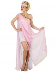 Kostume romersk gudinde i rosa