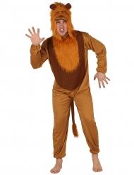 Brunt løveudklædningsdragt til voksne