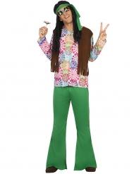 Kostume hippie grønt til mænd