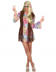 Kostume hippie multifarvet til voksne