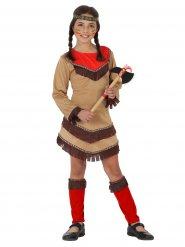 Kostume lille indianer fra det vilde vesten til piger