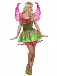 Kostume magisk fe i grøn og rosa